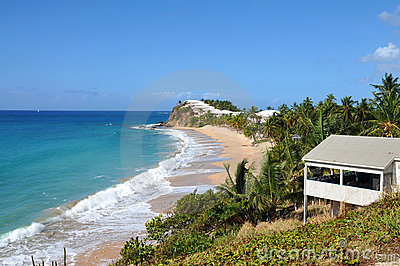 View of the island Antigua