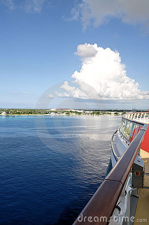View of island from cruise ship