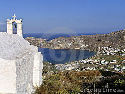 View of the island of Ios in Cyclades,