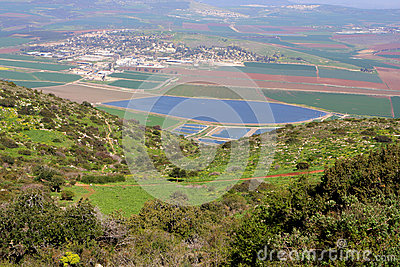 View on Israel valley