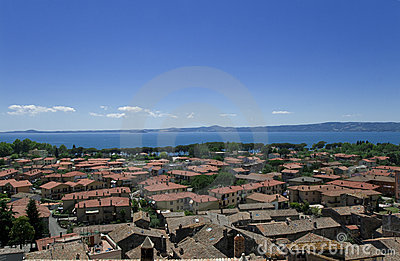 View at the italian city Bolsena