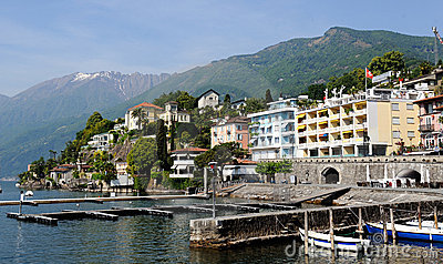 View of Italian city of Switzerland Ascona