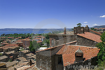 View at the italian resort city Bolsena