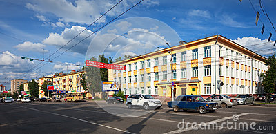 View of Ivanovo - Lenin Avenue Editorial Photo