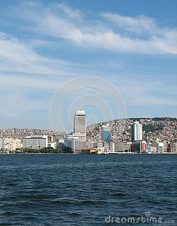 View on Izmir downtown