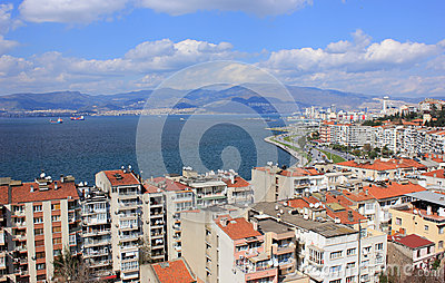 View on Izmir s  bay from Asansor Tower