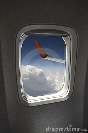 View from a jet window