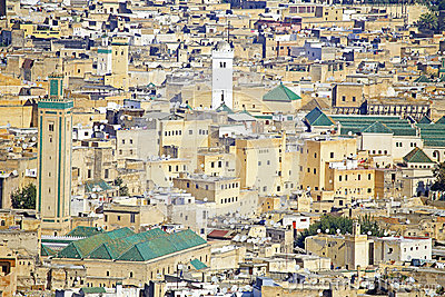 View of Kairaouine Mosque in Fes, Morocco,