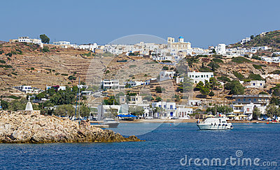 View of Kimolos island, Cyclades, Greece