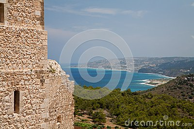 View From Kritinia Castle Rhodes