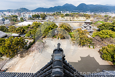 View of Kumamoto and nearby