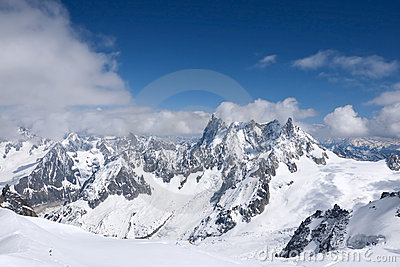 View from L Aguille du Midi
