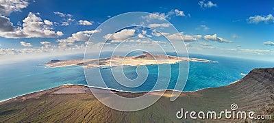 View of La Graciosa Island, Canary Islands (Spain)