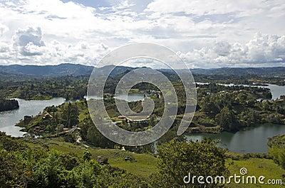 View from La Piedra Del Penol