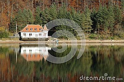 View of a lake house, Ighiu lake, Transylvania