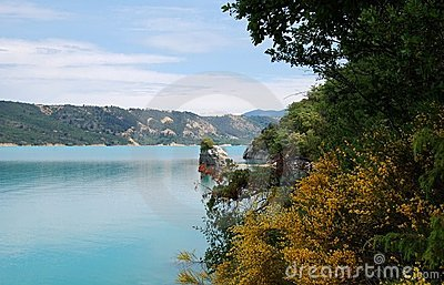 View on the lake of Saint-Croix, Verdon, Provence