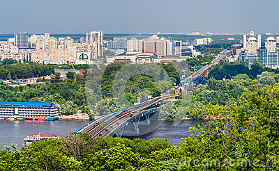 View of Left Bank of Dnieper in Kiev