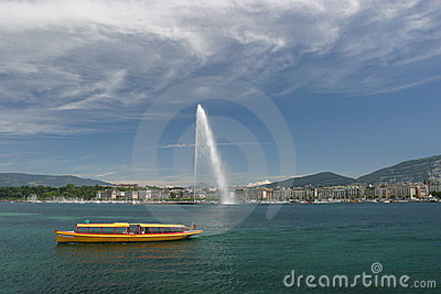 View on the Leman in Geneva