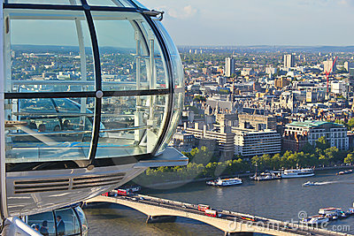 View from the London Eye Editorial Photography