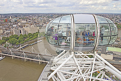 View of the London Eye Editorial Photography