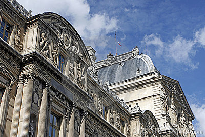 View of Louvre Museum