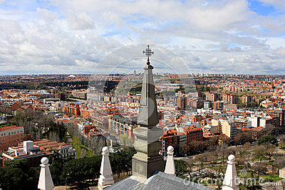 View of Madrid, Spain Editorial Stock Photo