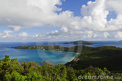 View of Magens Bay in St Thomas, USVI