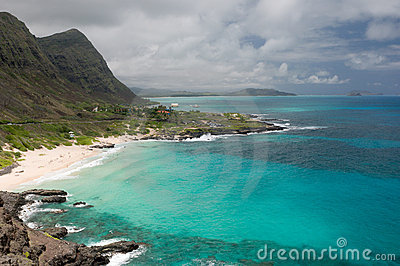 View of Makapuu Beach, Oahu, Hawaii