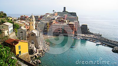 View of Manarola, Italy