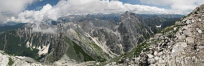 View from Mangrt to Jalovec