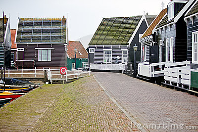 View of Marken houses