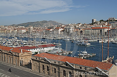 View of Marseille in South France