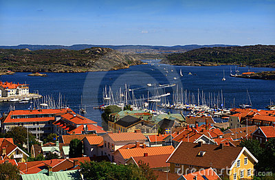 View from Marstrand castle