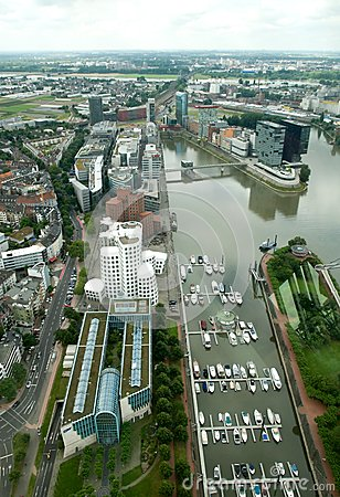 View on Media Harbour in Dusseldorf Editorial Photography