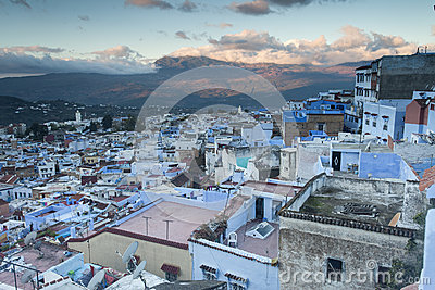 View of medina blue town Chefchaouen, Morocco