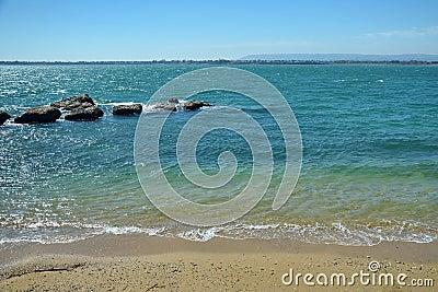 View of the Mediterranean Sea shore
