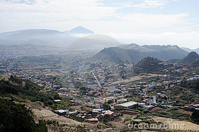 View from Mirador de Jardina, Tenerife Spain