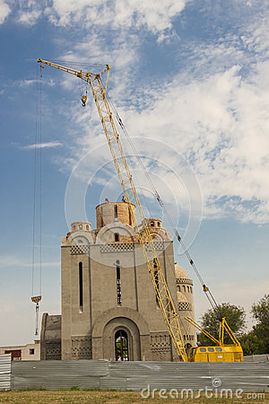 Orthodoxy church under construction - Uman, Ukrain