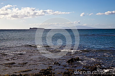 View of Molokini and Lanai