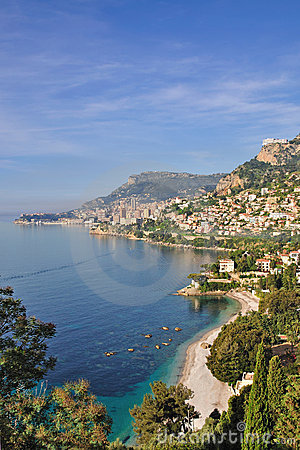 View of monaco on the french riviera
