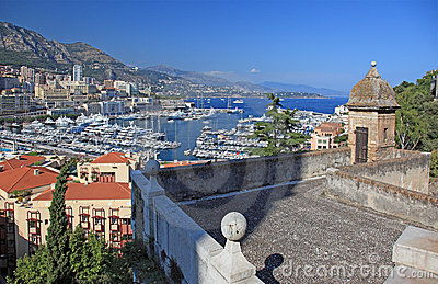 View of Monaco from old tower.