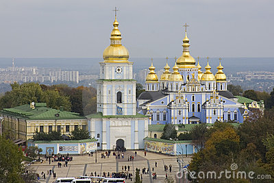 View on monastery in Kiev