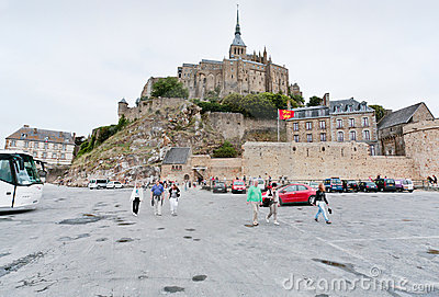 View on Mont Saint-Michel, France Editorial Photo