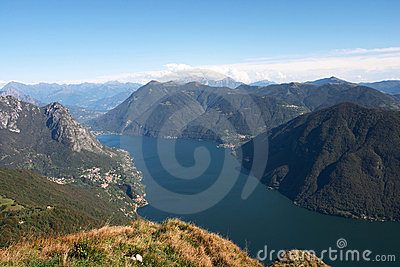 View from monte Bre over the Lugano lake