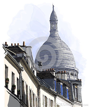View of Montmartre in Paris