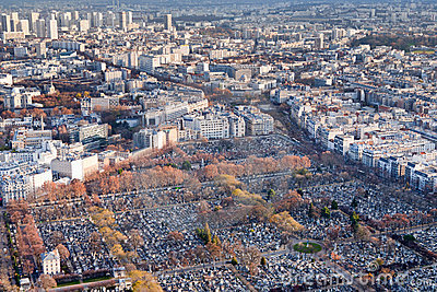 View On Montparnasse Cemetery In Paris Stock Photography - Image: 22832852