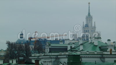 View of Moscow stock footage