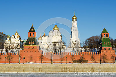 View on Moscow kremlin in winter