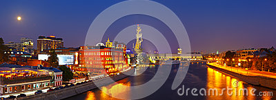 View of Moscow in night Editorial Photography