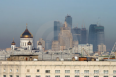 View of Moscow with some landmarks